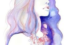 Watercolor  ː Woman