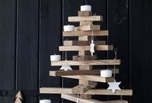 Wooden Christmas' trees