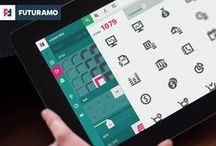 Futuramo Icons / Unique style matrix from light to bold, from square to round. Powerful instant search, tools for size, color, style, swatches... and it is always growing! FUTURAMO ICONS – a perfect tool for designers & developers.