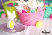 Hoppy Easter / Celebrate Easter with recipes and décor suggestions from Vanity Fair® Napkins!