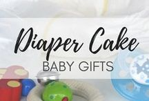 DIY Diaper Cake - Inspirational ideas / See these super cool diaper cake suggestions - the perfect baby shower gift | thoughtful gift for baby shower | DIY diaper cake instructions | diaper cake ideas | how to make diaper cake | amazing baby shower gift | easy diy baby gift | diaper cake inspirational ideas