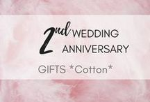 2nd Wedding Anniversary: Cotton Gifts / 2⃣  Get gift ideas for your honey on your 2nd wedding anniversary - COTTON WEDDING ANNIVERSARY! Celebrate!  second wedding anniversary gift | cotton wedding ideas | thoughtful gift ideas for 2nd anniversary | second anniversary gift ideas | cotton anniversary gifts | how to celebrate wedding anniversary | things to do on second wedding anniversary | two year anniversary Traditional 2nd wedding anniversary gift is COTTON |  Modern second anniversary gift  China
