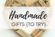 Handmade Gifts To Try / A great selection of handmade gifts that are easy, savvy and useful - so definitely must try!