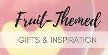 Fruit Themed Gift Ideas / A large selection of fruit-themed gifts and inspiration for all the fruit lovers! Check all of my favorite fruity-inspired designs and trendy fruit prints. Pin banana-shaped earrings, or a colorful pair of strawberry-patterned socks, apricot fragrant gifts and many more - all carefully selected for the fruity souls!