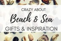 Crazy About ... Beach and Sea! | Nautical and Beach Gifts / Every beach lover will find these nautical gift ideas awesome! Find decorations and cool gifts for those who live the sea! Coastal, beach and nautical theme gifts for just any occasion. Exclusively great birthday gifts for the summer birdies, hostess gifts to bring the summer breeze...or just because I love you (almost as the sea) gifts. Explore the gift and inspo collectin for all the crazy about beach and see lovely people! And PIN for later! #beachlovergifts #beachgifts #nauticagifts