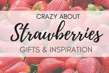Crazy About ... Strawberries! | Strawberry Lover Gifts / Do you need any cool ideas for strawberry gifts?  You know, for people who are absolutely obsessed with strawberries? Here are some wonderful strawberry gift ideas for the strawberry lover and everyone else, especially those born in February  Explore and PIN for later! Strawberry lovers | gifts for people who love strawberries | strawberry gifts | strawberry gift ideas