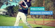 """Baseball Hitting Aids / Baseball hitting aids summary: Laser Blast, both arms inside your Laser Strap. Resistance improves strength, frontside & backside mechanics; releasing triggers bat speed. Resistance fixes a long swing, """"staying connected."""" Laser Whip, remove your front arm, super-boosting bat speed; and powerful extension. Hit your way, swing as usual; working for all drills."""