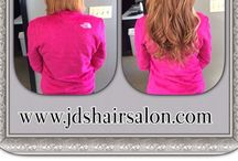 Hair Extensions done right !! / Human hair extensions. Warm fusion , Micro Links , and Tape Ins .  www.jdshairsalon.com