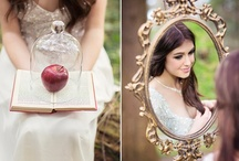 Nice day for a (Snow) White Wedding / Snow White inspired themed rustic spring wedding