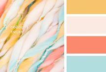 Wedding colour pallets