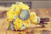 Lemon Yellow Wedding Theme / Inspiration for a bright and cheery yellow-themed wedding.  Let the sunshine in!