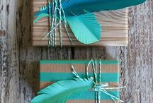 Wedding invitations feather