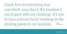 Women Share Experience with Coaching / Hear from Women Business Owners & Entrepreneurs who have experienced the power of business coaching. Coach Erin Garcia has been a business coach in Phoenix, Arizon since 2006. www.ecoacherin.com/coaching