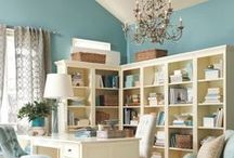 Home Business Office Ideas / Home office tips, ideas and designs for women entrepreneurs and self employed professionals