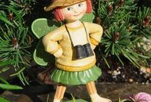 Mary Engelbreit Fairies - Fairies and Friends / The Mary Engelbreit Fairy Collection! This is a whimsical collection of beautiful fairy garden items that is guaranteed to bring magic into your fairy garden. Mary Engelbreit is internationally known for her beautiful artwork and drawings. To have a collection of these Fairy garden items is very prestigious and sure to delight all that gaze into your garden.