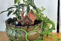 Teacup Planters - House and Cottages