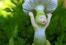 Toadstools and Mushrooms - Fairy Garden Decor