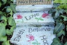 Pathways and Stepping Stones / Create a wonderful path that leads to your magical fairy garden! Our collection of pathways and stepping stones would make more enchanted folks visit your fairy garden more often.