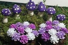 Handmade Flowers / Our amazing collection of handmade flowers would make the fairies and enchanted folks delighted when they see them in your fairy garden!