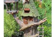 Mystical Fairy House (Fixed Doors) with Florina the House Fairy / Fairy homes are a must in fairy gardens. This is where your fairy will live. We have a wonderful selection of cottages with fixed doors. Fairies can use the magical fairy knock or simply fly through the keyhole to get cozy in their new home. The fairy in charge of all the fixed door houses is Florina and her job is to make sure all fairies that get fixed door houses understand how to enter their new homes magically-yes there is a bit of fairy dust!