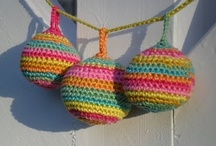 Crochet - Bunting , Mobiles , And  Things That Dangle ! / by Judith Keyzer