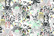 "AARREKID PRINTS / Aarrekid represents two seasonal prints every year.  Aarrekid Classics ""Enchanted Forest"", Stripes and Owls are available all year round."