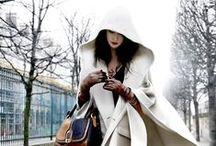 秋冬 白い服