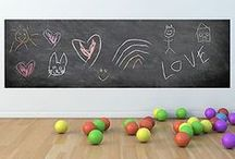 Shaped Chalkboards / Chalkboard wall decal stickers with unlimited uses! Create homework/chore charts, write quick notes, or simply draw and be creative with our chalkboard wall decal stickers! #chalkboarddecals #chalkboardwalldecals