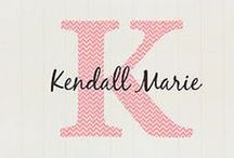 Girls Name And Initial Decals