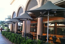 R+D Kitchen - Installation Photos / From the Newport Beach, CA at Fashion Island location. Featured products include: heated patio umbrellas, ERH panels, and IRH panels. / by Contract Furniture Company