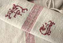 Vintage linen and fabrics