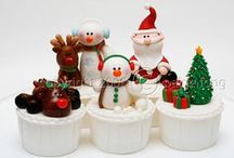 Christmas Cakes, Cupcakes & Cookies / Christmas-themed cakes, cupcakes and cookies!  / by The Cupcake Lady (SA)