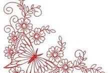 çizimler / kurdele nakışı ve brezilya nakışı için şablonlar
