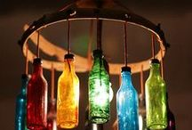 Craft ideas with wine bottles or corks