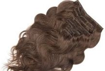 Clip in Human Hair Extensions / Clip in hair extensions or Clip on Hair Extensions is a way for people to easily change any hairstyle to a variety of different looks, cuts and lengths. They blend with your hair seamlessly to go from short to long and create volume or texture. On this board, Omgnb offer 100% human hair clip in extensions, and they are available in different lengths, colors and textures. Pick the most suitable one for a new look. Want more? here=>http://www.omgnb.com/clip-in-on