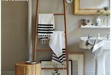 Escadas na decor / Escadas diferentes, escadas criativas. Como criado, como estante, como porta toalha, mil e uma ideias para usar as escadas na decor