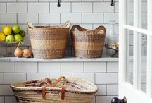 Simplify Storage / I believe that storage should be kept small and only used for the things we truly love and need. Here are some simple and beautiful solutions for organizing those items.