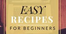 Easy Recipes for Beginners / This board is for those who find cooking a bit more difficult or challenging. Here are a bunch of recipes for breakfast, lunch, dinner, dessert, and even snacks, that don't take a professional chef to make!