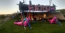 Stretch Tent / Marquee / Festival decor / We love to see our stretch tents decorated for various events. We also have some great decor that we can supply with our tents. http://www.jabulatents.co.uk/decor/