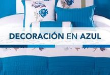 Decoración en tonos Azules / Aquí encontrarás un catálogo de colchas y sábanas en tonalidades Azules, para los amantes de estos tonos.