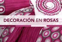 Decoraciones con rosa / Aquí encontrarás colchas e inspiración para decoración de habitaciones en tonos rosas.