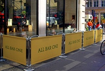 Cafe Barriers / Brand leading Alfresco range of Barriers printed to your requirements.