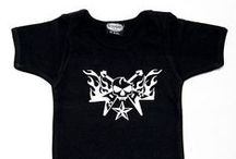 Cool Baby Clothes / Looking for cool punk rock baby shirts? Looking for black skull baby clothes? We have the coolest designs in stock and ready to ship. Our one piece baby body suits, or creepers, are always the biggest hit at baby showers. Our infant one pieces are 100% cotton and super soft on baby's skin. We offer many different designs....
