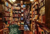"""Bookshelves / """"If I read a book and it makes my whole body so cold no fire can ever warm me, I know that is poetry."""" Emily Dickinson"""