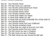 30 day Challenge - Movies / I answer 30 questions about movies. 1 question pr. day