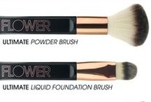 BRUSHES / Hand dyed, hand cut and shaped with the softest, finest man-made hair. FLOWER brushes are designed to bring ease and luxury to the process of creating your look.
