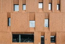 brick buildings / architecture made with bricks, brown and beautiful