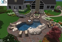 Outdoor Living Pool Design Architecure / www.vizxdesign.com