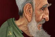 TÉCNICA PINTURA DIGITAL / Caricaturas realizadas con pintura digital por el caricaturista kikelin