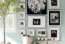 Frame It Up-Wall Galleries / Picture frames both empty and full to create a beautiful wall gallery in any room of your home.